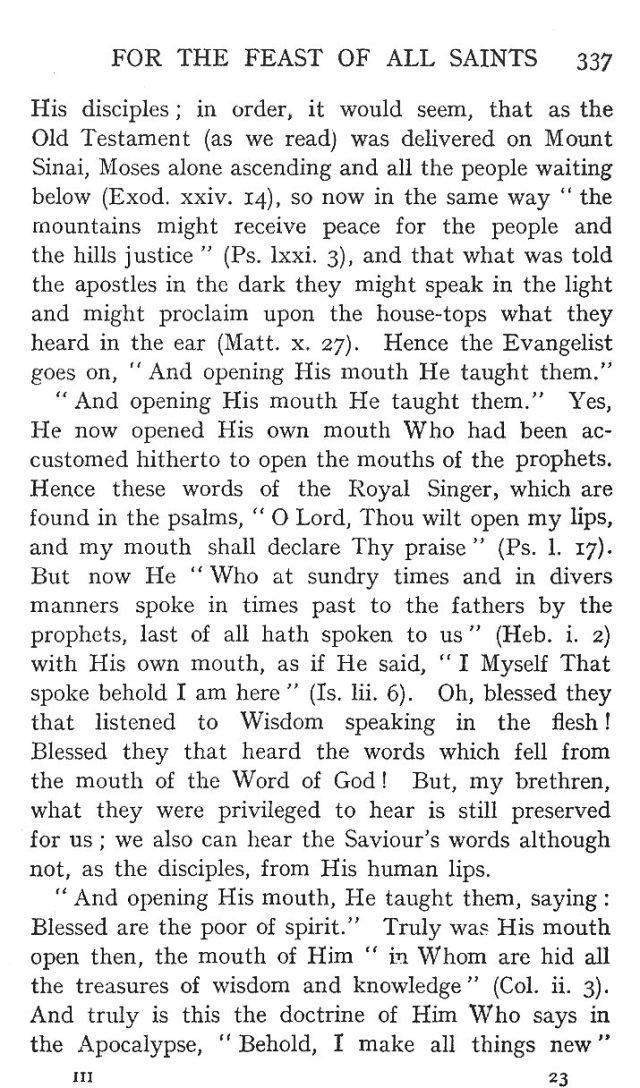 On the Eight Beatitudes 8