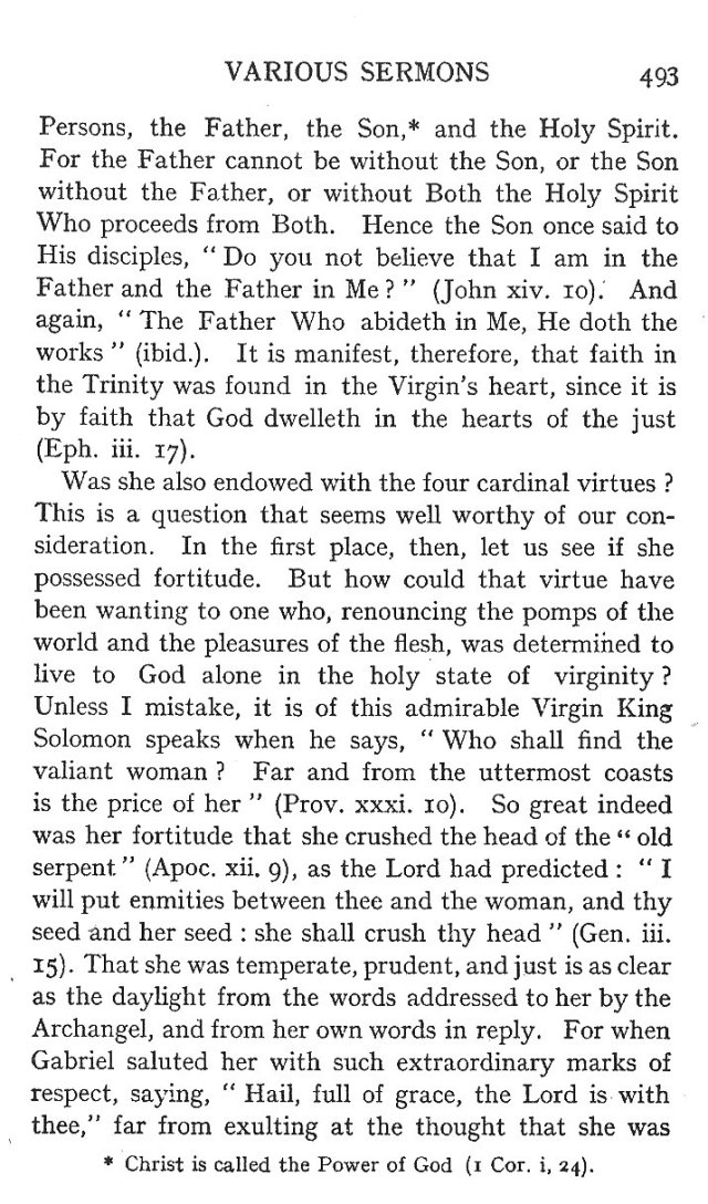 On the Faith and Virtues of the Blessed Virgin 3