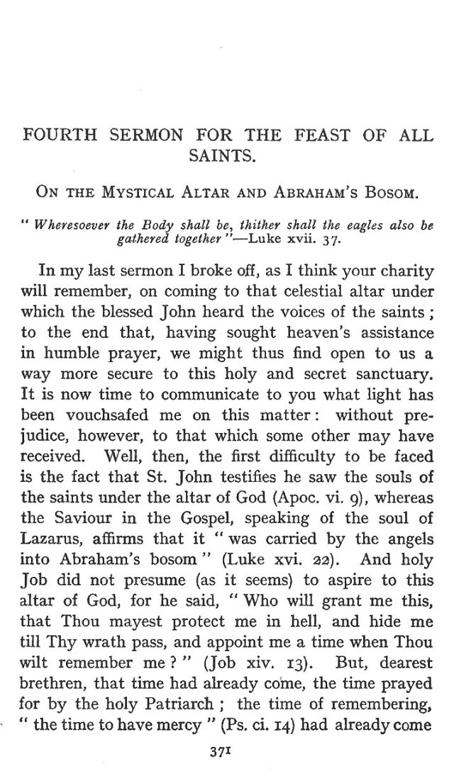 On the Mystical Altar and Abraham's Bosom 1