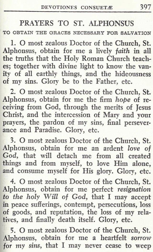 Prayers to St. Alphonsus 1
