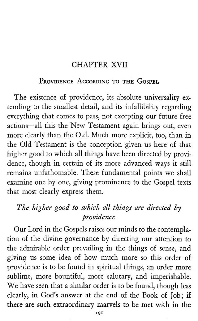 Providence according to the Gospel 1