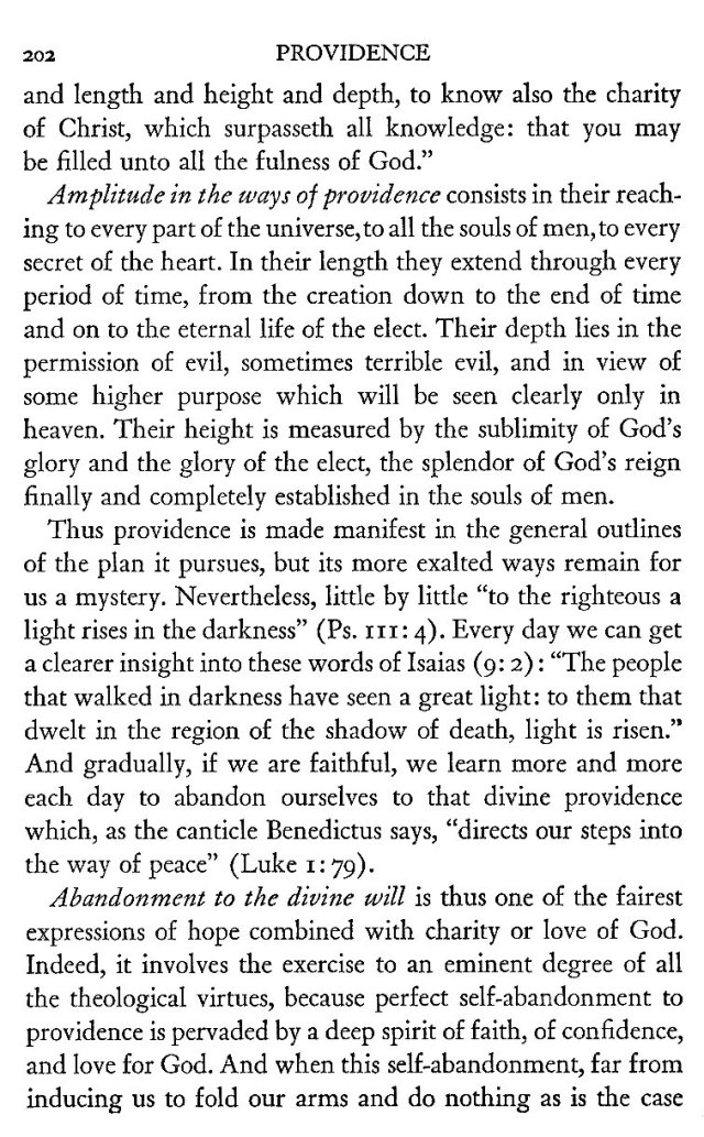 Providence according to the Gospel 12