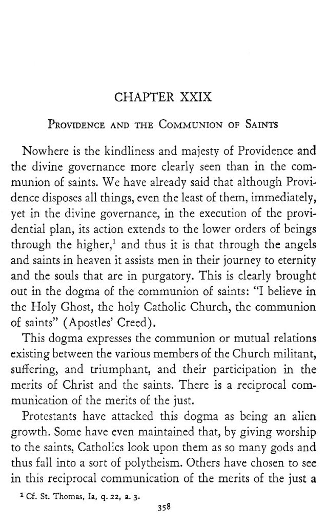 Providence and Communion of Saints 1
