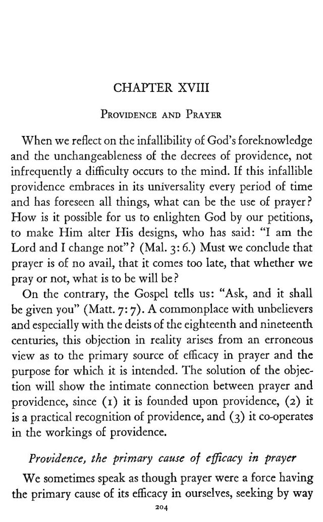 Providence and Prayer 1
