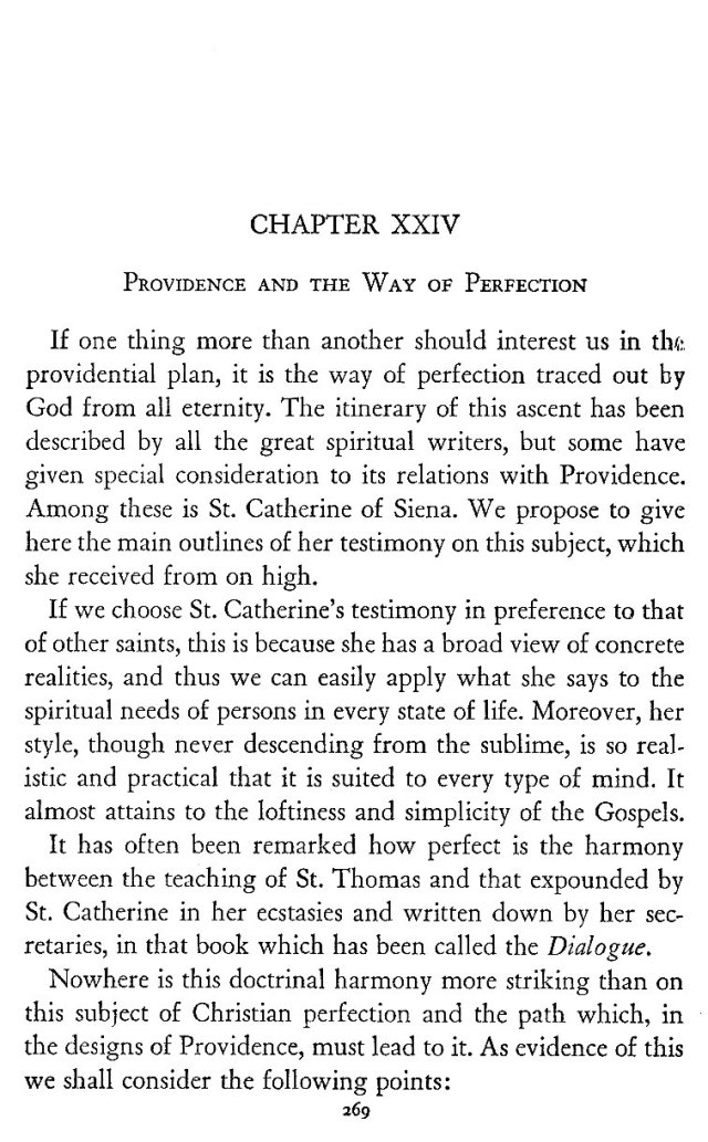 Providence and the Way of Perfection 1