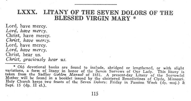 Seven Sorrows Litany 1