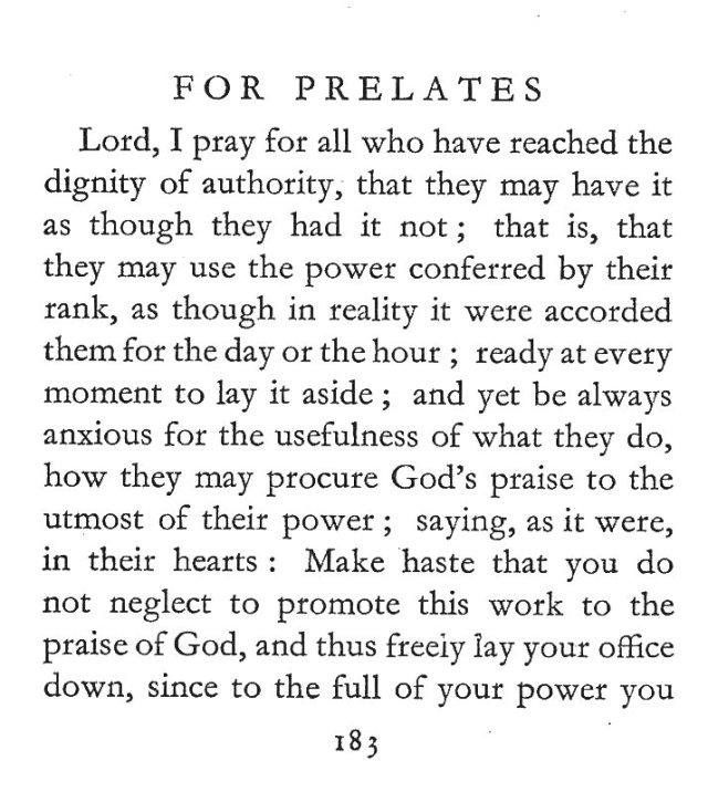 St. Gertrude's Prayer for Prelates 1