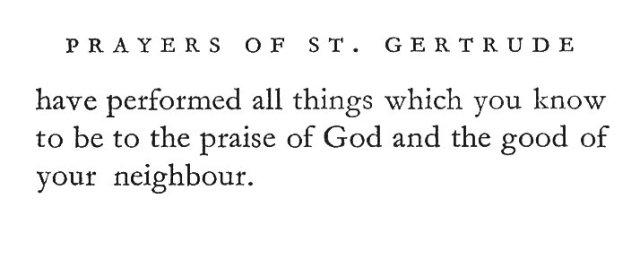 St. Gertrude's Prayer for Prelates 2
