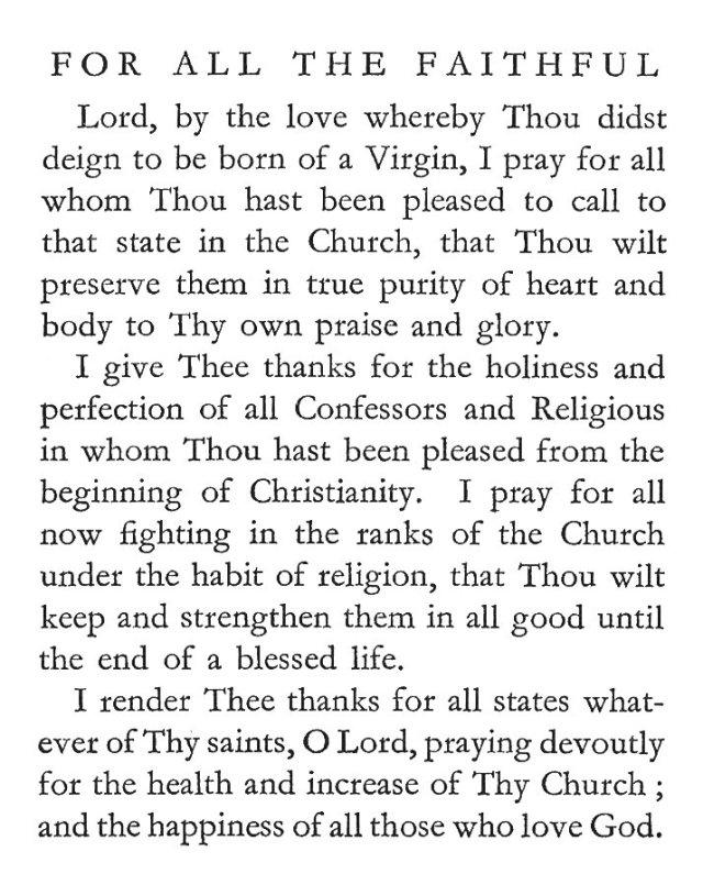 St. Gertrude's Prayer for the All the Faithful