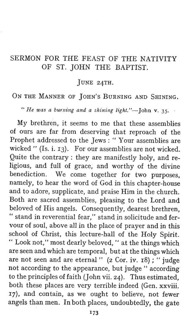 St. John Sermon 1