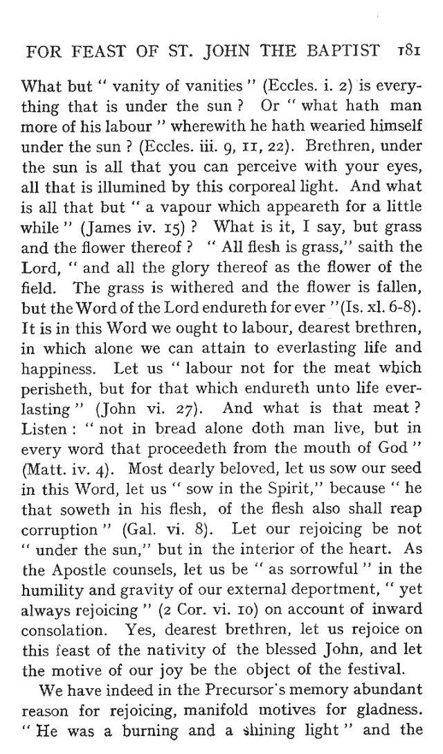 St. John Sermon 9