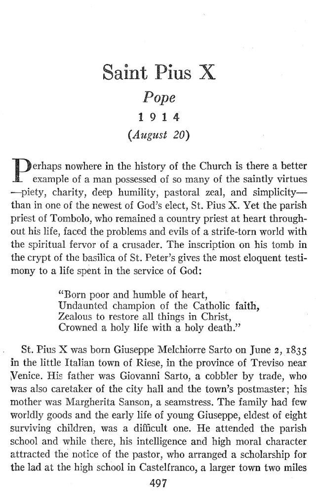 St. Pius X Life 1