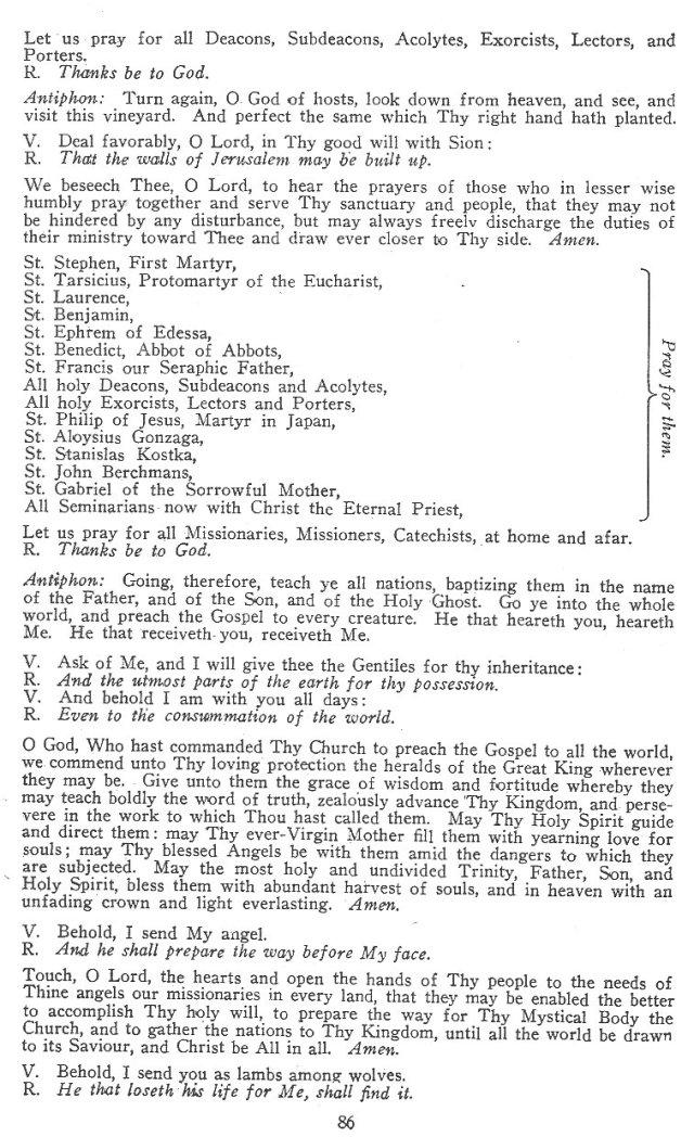 The Catholic Litanies I 5