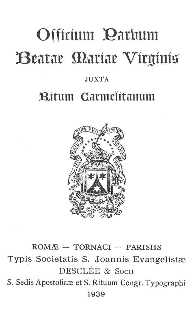 Officium Parvum B. Mariae Virg. 1
