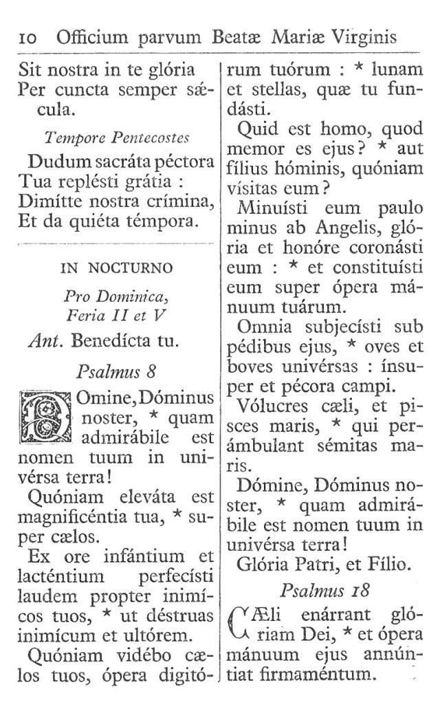 Officium Parvum B. Mariae Virg. 10