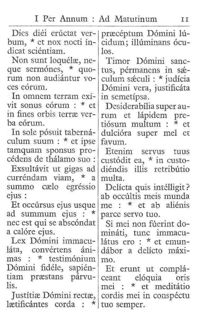Officium Parvum B. Mariae Virg. 11