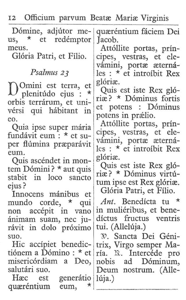 Officium Parvum B. Mariae Virg. 12