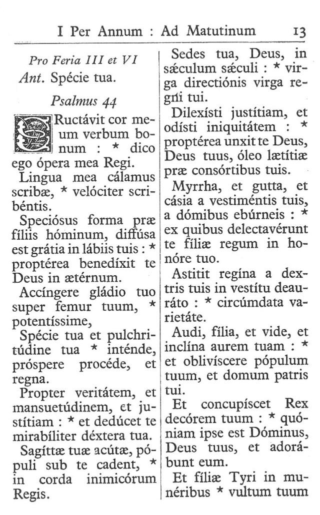 Officium Parvum B. Mariae Virg. 13