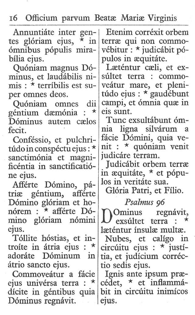 Officium Parvum B. Mariae Virg. 16