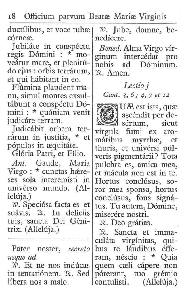 Officium Parvum B. Mariae Virg. 18
