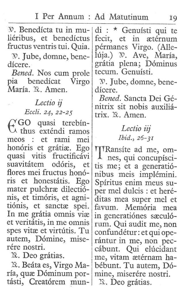 Officium Parvum B. Mariae Virg. 19