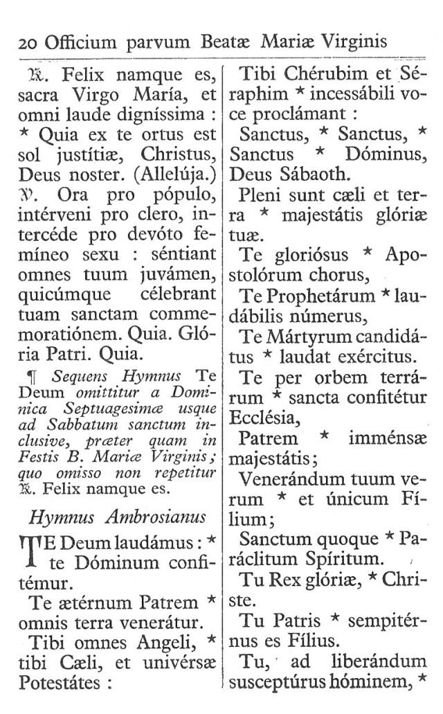 Officium Parvum B. Mariae Virg. 20