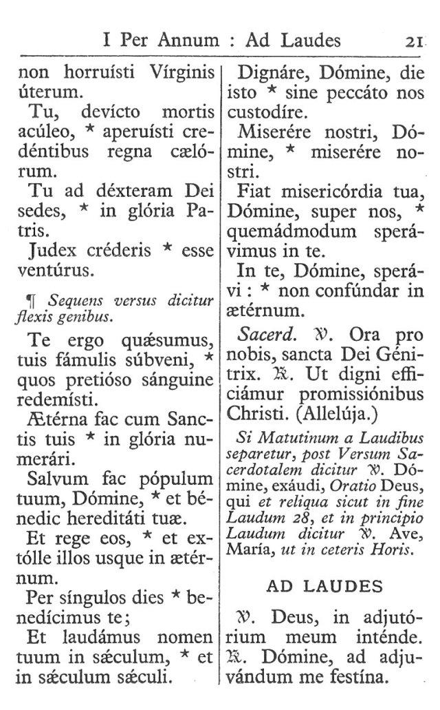 Officium Parvum B. Mariae Virg. 21