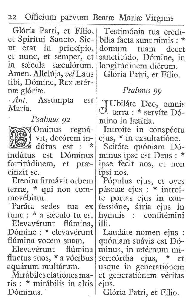 Officium Parvum B. Mariae Virg. 22