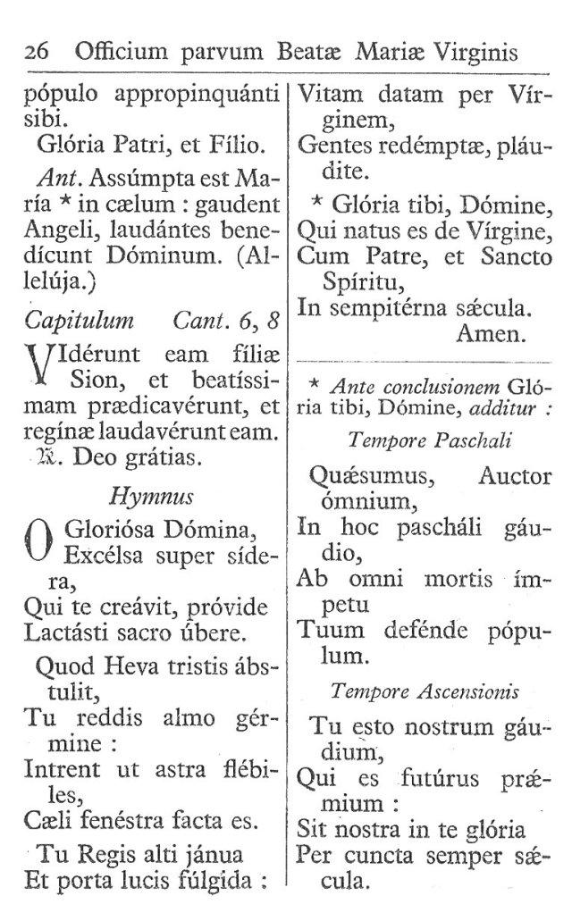 Officium Parvum B. Mariae Virg. 26