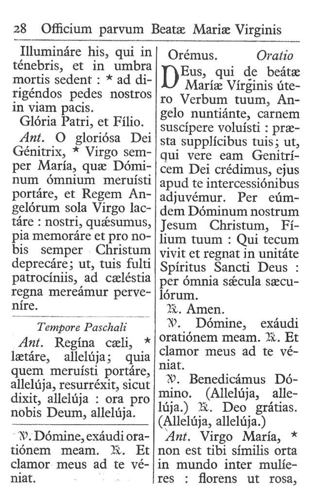 Officium Parvum B. Mariae Virg. 28