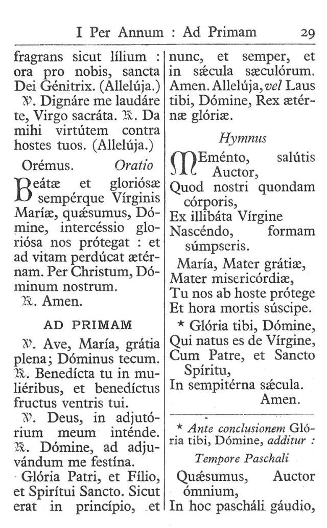 Officium Parvum B. Mariae Virg. 29