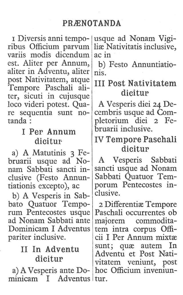Officium Parvum B. Mariae Virg. 3