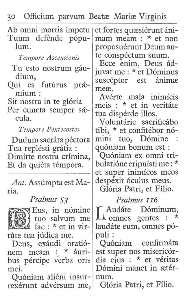 Officium Parvum B. Mariae Virg. 30