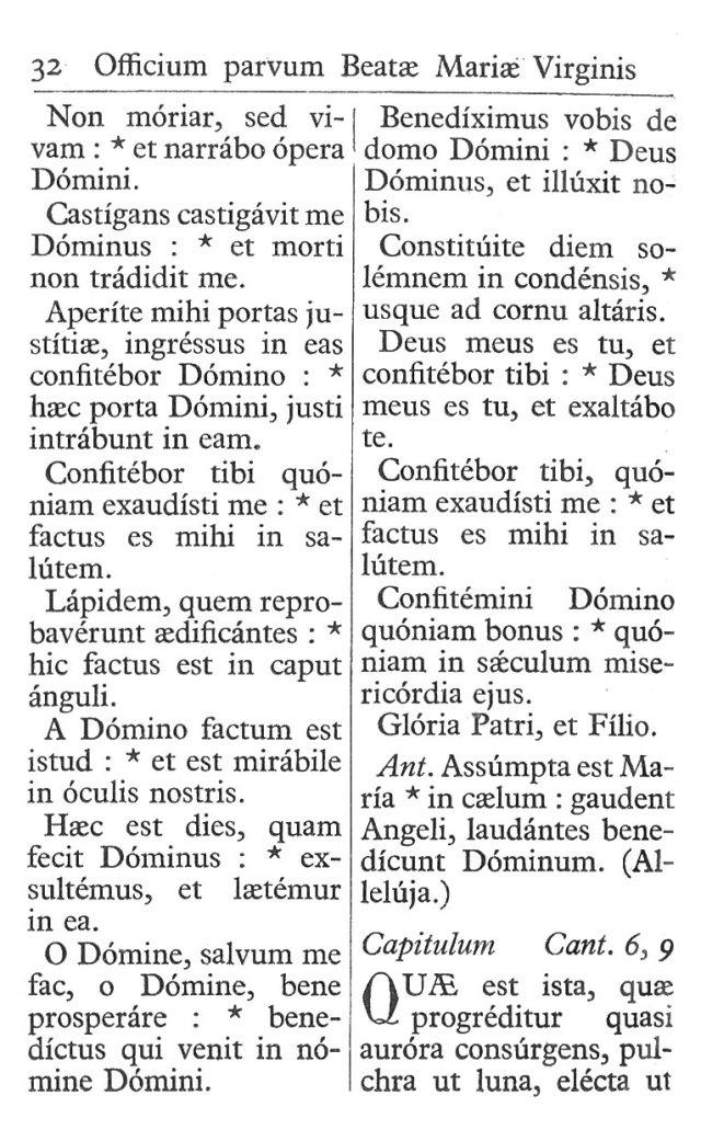 Officium Parvum B. Mariae Virg. 32