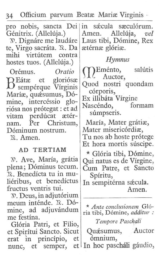 Officium Parvum B. Mariae Virg. 34