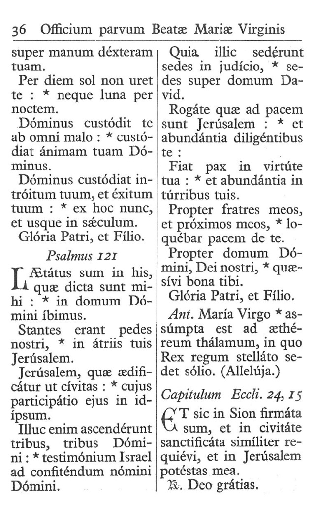 Officium Parvum B. Mariae Virg. 36