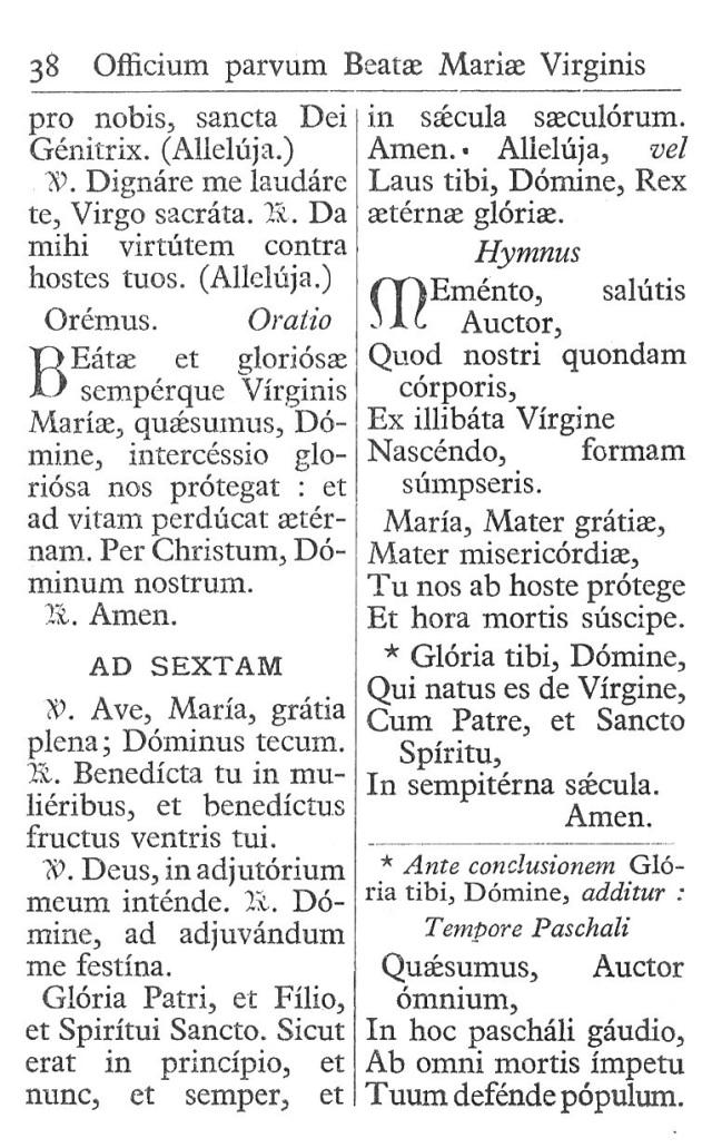 Officium Parvum B. Mariae Virg. 38