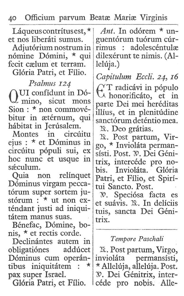 Officium Parvum B. Mariae Virg. 40