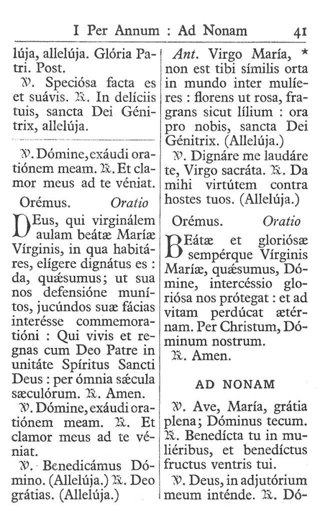 Officium Parvum B. Mariae Virg. 41