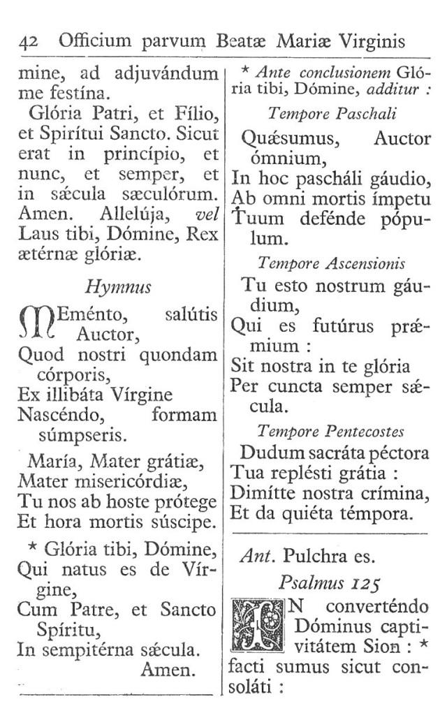 Officium Parvum B. Mariae Virg. 42