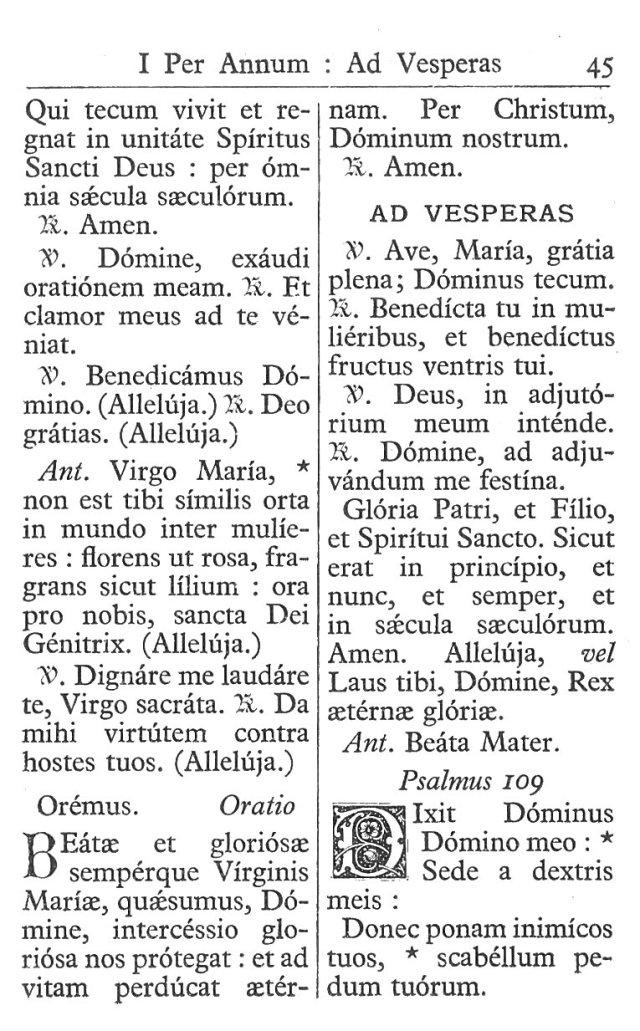 Officium Parvum B. Mariae Virg. 45