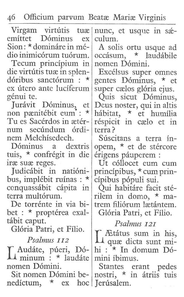 Officium Parvum B. Mariae Virg. 46