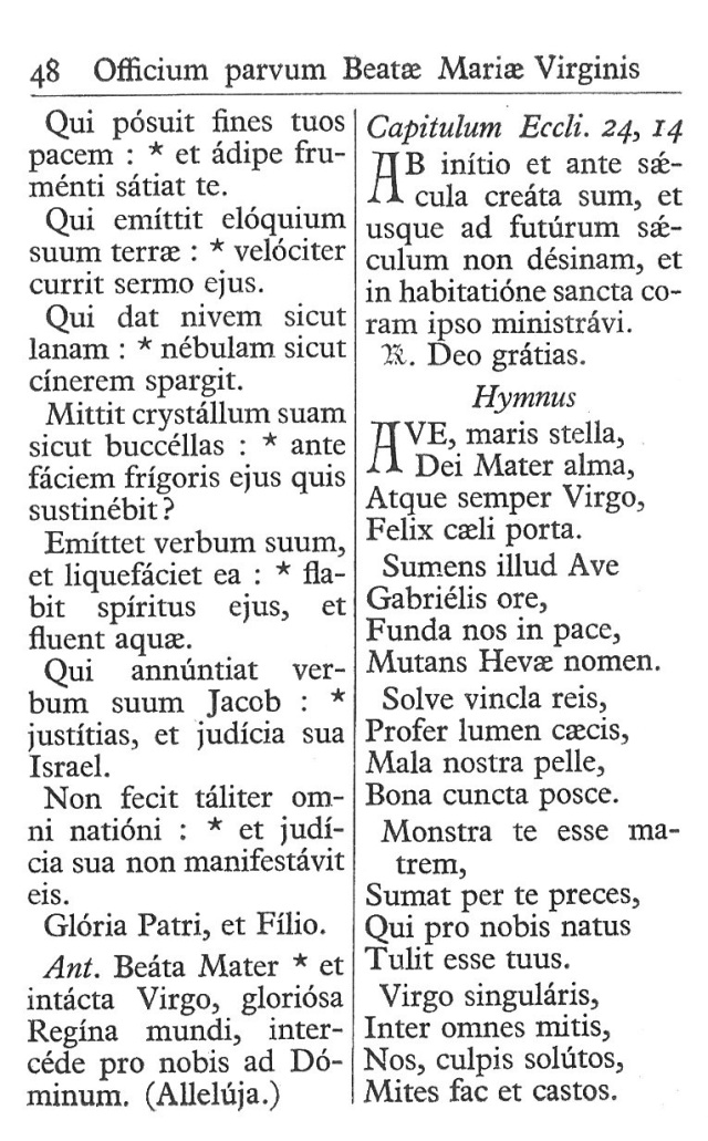 Officium Parvum B. Mariae Virg. 48