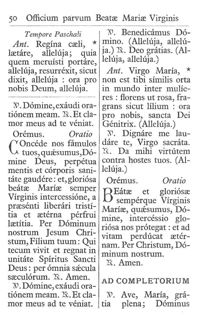 Officium Parvum B. Mariae Virg. 50
