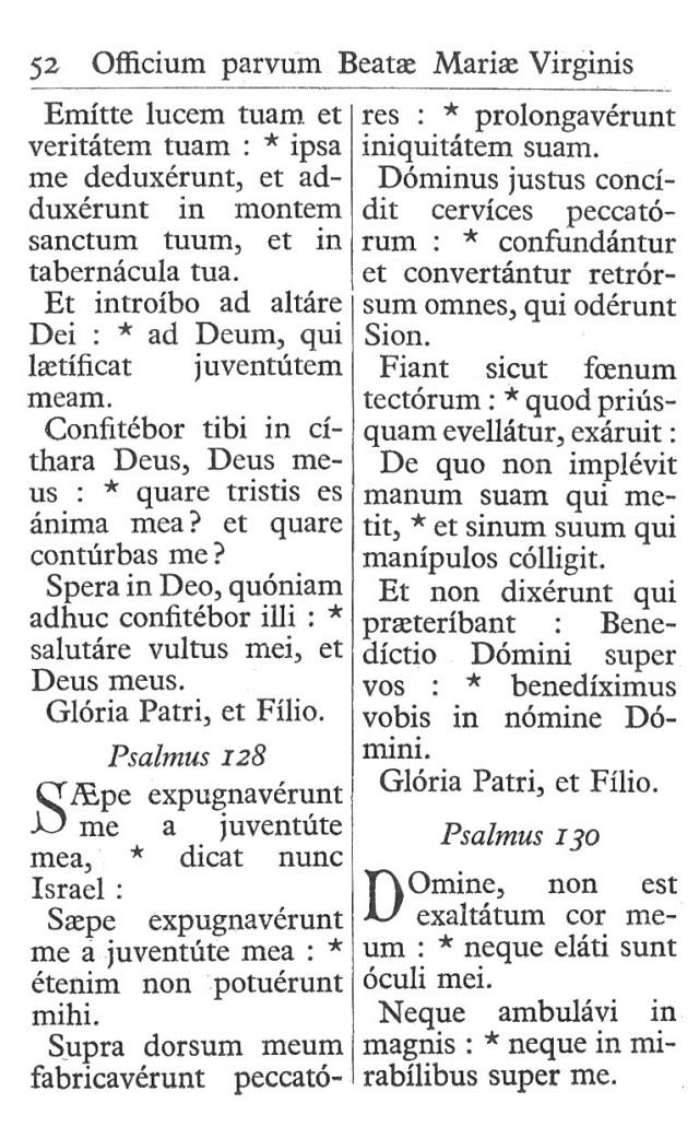 Officium Parvum B. Mariae Virg. 52