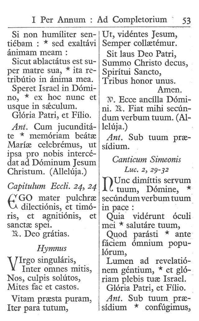 Officium Parvum B. Mariae Virg. 53