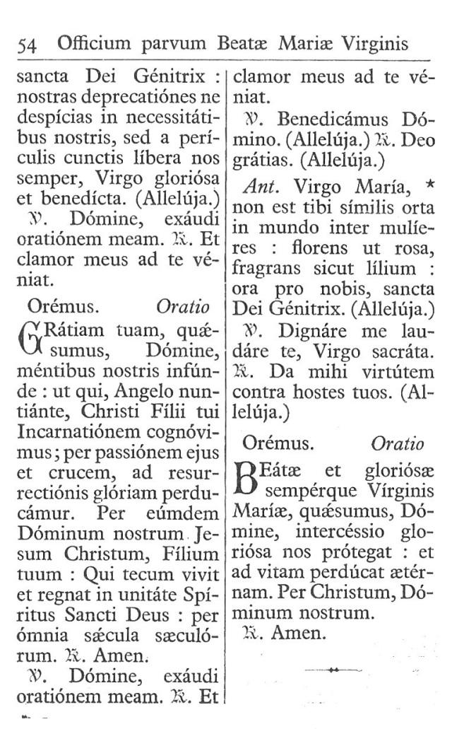 Officium Parvum B. Mariae Virg. 54