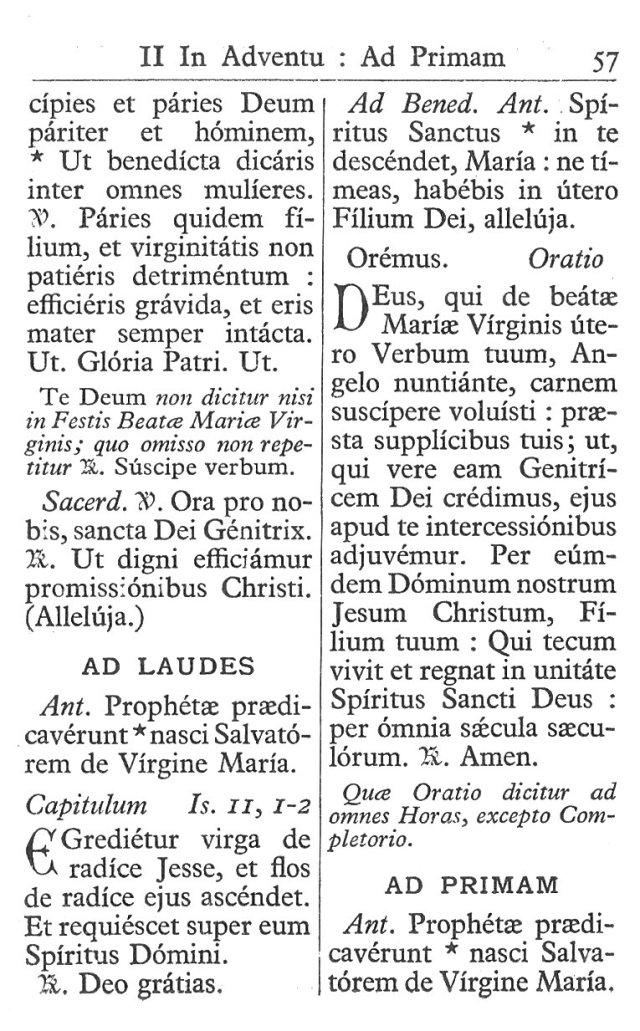 Officium Parvum B. Mariae Virg. 57