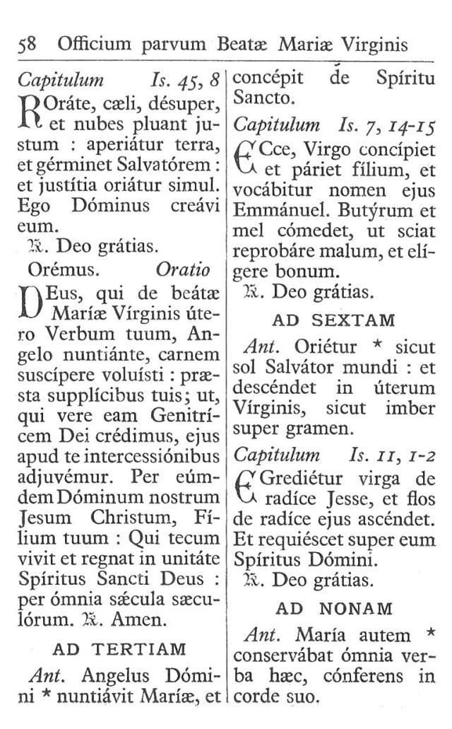 Officium Parvum B. Mariae Virg. 58