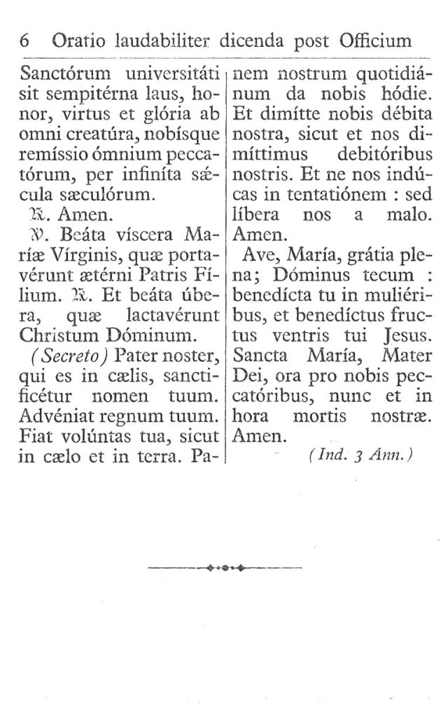 Officium Parvum B. Mariae Virg. 6